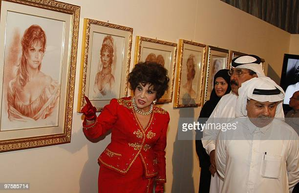 Italian actress Gina Lollobrigida whose career has spanned more than six decades starting in the 1950s attends the opening of her exhibition in the...