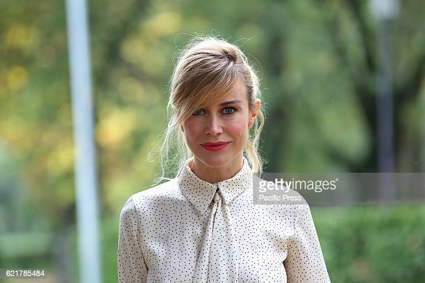 Italian actress Giorgia Wurth during Photocall of new fiction 'Rocco Schiavone' produced by Rai Fiction and Cross Productions directed by Michele...
