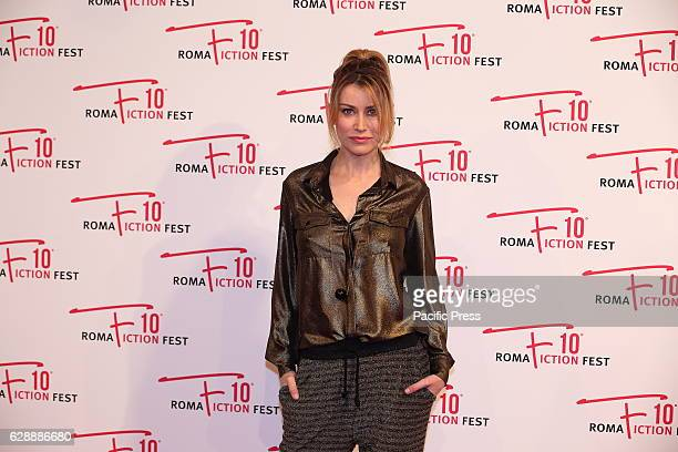 Italian actress Giorgia Wurth during red carpet of Italian fiction 'Amore Pensaci Tu'