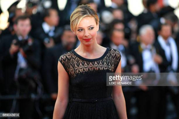 Italian actress Jasmine Trinca poses as she arrives on May 27 2017 for the Un Certain Regard prize ceremony at the 70th edition of the Cannes Film...