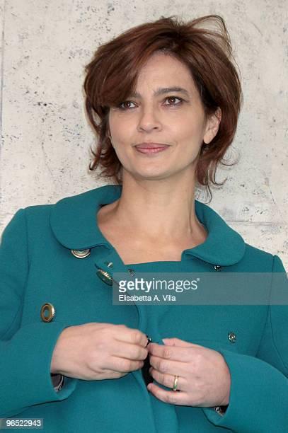 Italian actress Laura Morante attends 'Il Figlio Piu Piccolo' photocall at Embassy Cinema on February 9 2010 in Rome Italy
