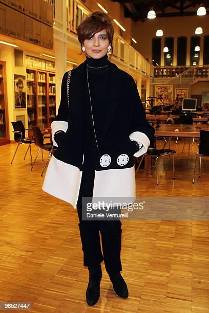 Italian actress Laura Morante attends the premiere's coccktail party for the film 'Il Figlio Piu Piccolo' at library Renzo Renzi on February 9 2010...