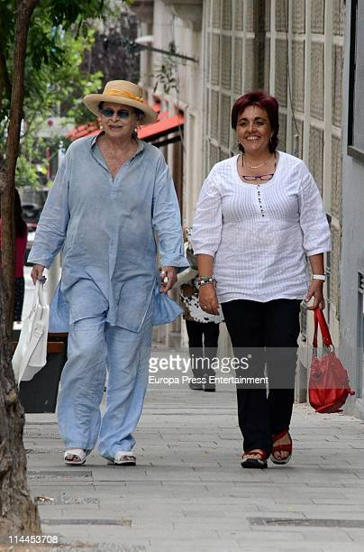 Italian actress Lucia Bose is seen sighting on May 20 2011 in Madrid Spain