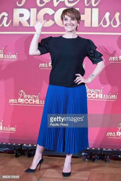 Italian actress Lucia Ocone during the Photocall of the Italian movie 'Poveri Ma Ricchissimi' directed by Fausto Brizzi