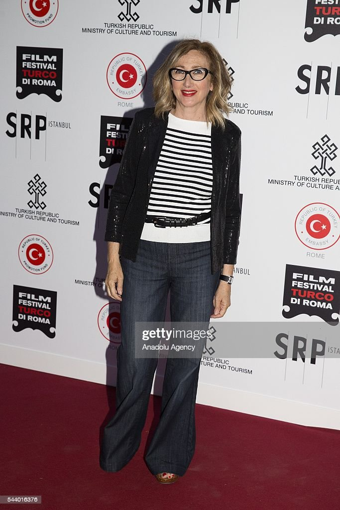 Italian actress Lunetta Savino attends Opening Ceremony of the V. Film Festival Turco at House of Cinema-Villa Borghese on June , 30, 2016 in Rome, Italy.