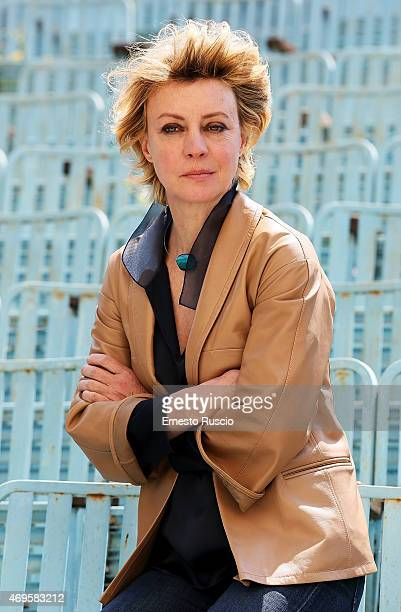 Italian actress Margherita Buy attends the 'Mia Madre' photocall at Cinema Nuovo Sacher on April 13 2015 in Rome Italy
