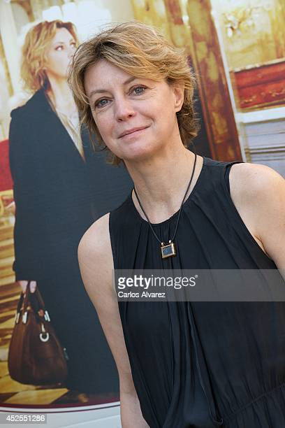 Italian actress Margherita Buy attends 'Viajo Sola' photocall at the Princesa cinema on July 23 2014 in Madrid Spain