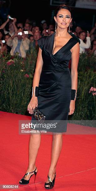 Italian actress Maria Grazia Cucinotta attends 'A Single Man' Premiere at the Sala Grande during the 66th Venice Film Festival on September 11 2009...