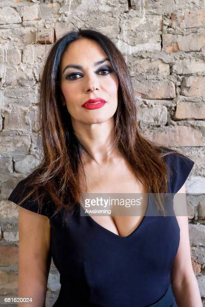 Italian actress Maria Grazia Cucinotta attends the official opening of the Malta Pavilion at Corderie dell'Arsenale part of The 57th International...