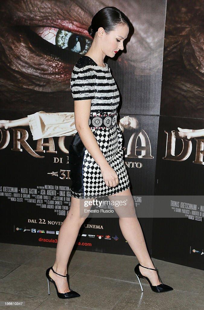 Italian actress Marta Gastini attends the 'Dracula in 3D' premiere at Cinema Barberini on November 21, 2012 in Rome, Italy.