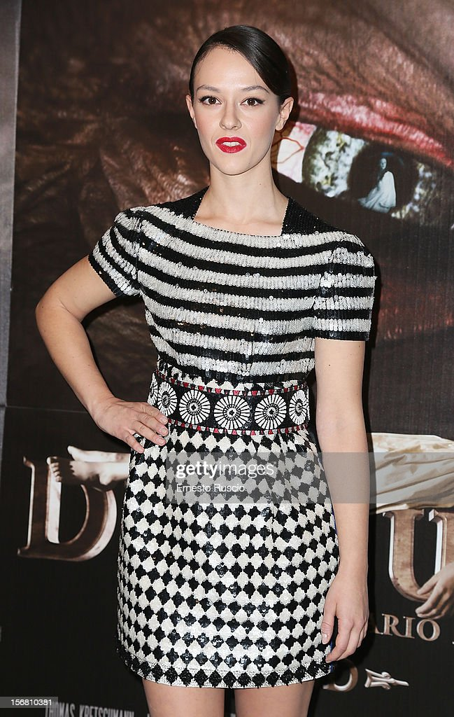 Italian actress Marta Gastini attends the 'Dracula in 3D' premiere at Cinema Barberini on November 21, 2012 in Rome, Italy.