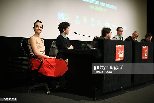 Italian actress Marta Gastini attends the 'XXII Courmayeur Noir in Festival' press conference at Casa del Cinema on November 21 2012 in Rome Italy