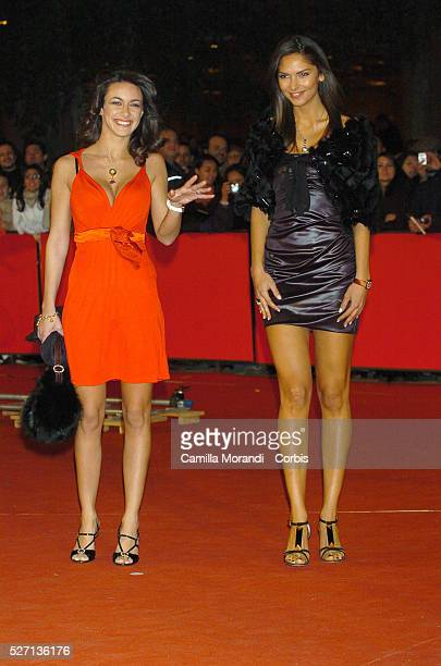 Italian actress Melita Toniolo and Brazilian actress Camila Morais at the premiere of 'Rendition' during the 2nd Rome Film Festival