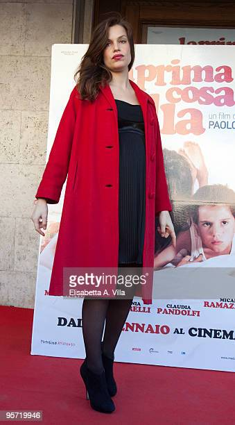 Italian actress Micaela Ramazzotti attends 'La Prima Cosa Bella' photocall at Embassy Cinema on January 12 2010 in Rome Italy
