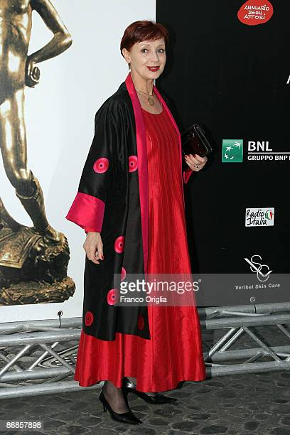 Italian actress Milena Vukotic arrives for the David di Donatello Movie Awards at the Auditorium della Conciliazione on May 8 2009 in Rome Italy