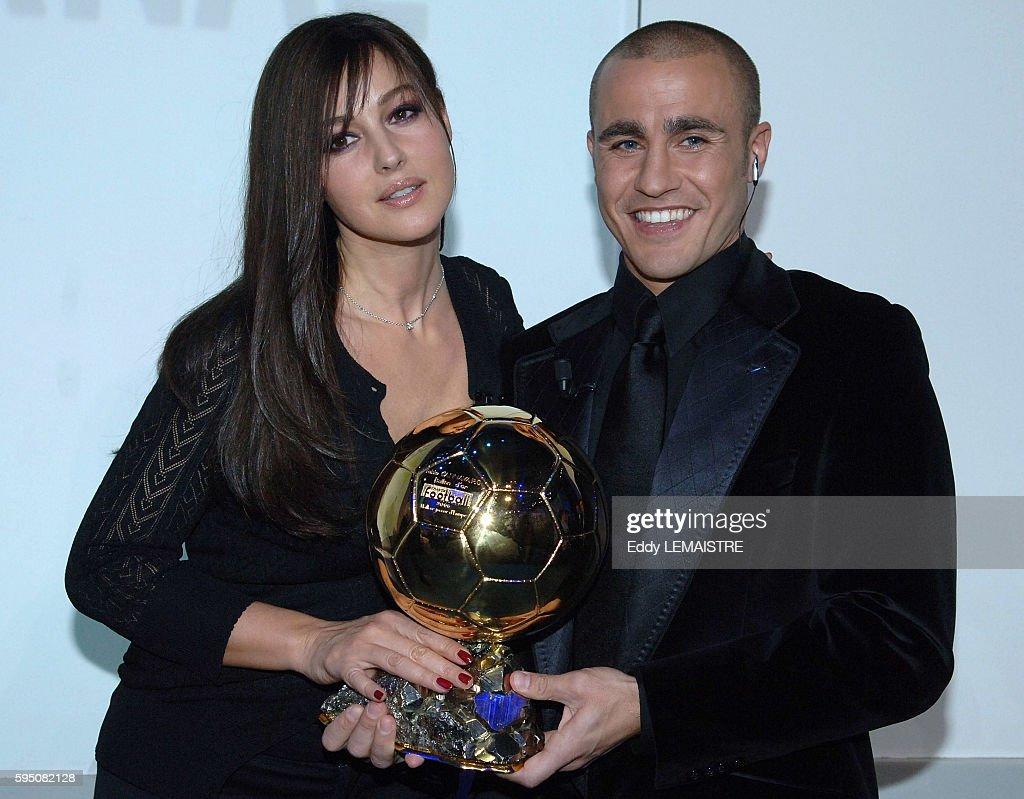 Soccer 2006 Ballon D or Fabio Cannavaro and Monica Bellucci
