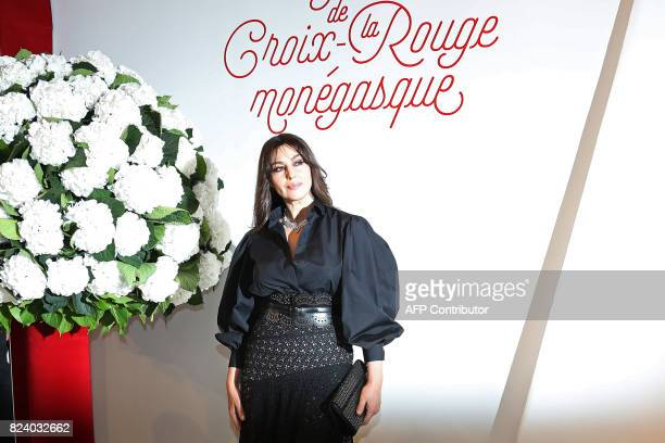 Italian actress Monica Bellucci arrives arrives for the Rose Ball at the MonteCarlo Sporting Club in Monaco during the 69th annual Red Cross Gala on...