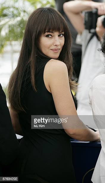 Italian actress Monica Bellucci attends the Jury Photocall during the 59th International Cannes Film Festival May 17 2006 in Cannes France