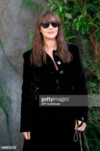 Italian actress Monica Bellucci poses during a photocall prior to the Chanel women's 2018 Spring/Summer readytowear collection fashion show in Paris...