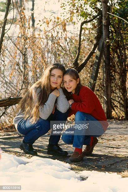Italian actress Ornella Muti and her daughter Naike Rivelli she had with Spanish film producer José Luis Bermúdez de Castro Acaso