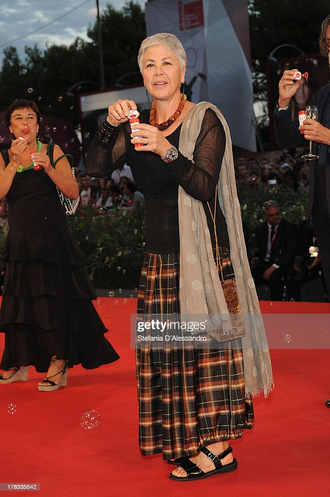 Italian actress Ottavia Piccolo attends 'Tracks' Premiere during the 70th Venice International Film Festival at Sala Grande on August 29, 2013 in Venice, Italy.