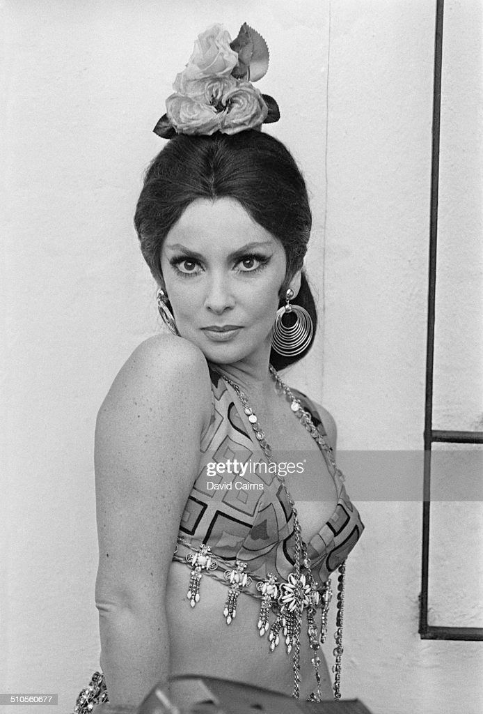 Italian actress, photojournalist and sculptor, <a gi-track='captionPersonalityLinkClicked' href=/galleries/search?phrase=Gina+Lollobrigida&family=editorial&specificpeople=93465 ng-click='$event.stopPropagation()'>Gina Lollobrigida</a> poses dressed as a flamenco dancer, Spain, 29th July 1969.