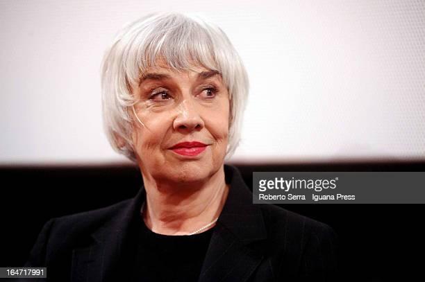Italian actress Pia Hengleberth attends the preview of her latest film 'Un Giorno Devi Andare' of director Giorgio Diritti at Cineteca di Bologna on...