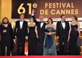 Italian actress Piera Degli Esposti director Paolo Sorrentino and his wife actor Toni Servillo and his wife and actors Massimo Popolizio and Anna...
