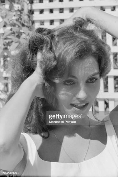 Italian actress Rosanna Schiaffino hands in the hair at the 19th Venice International Film Festival Venice August 1958