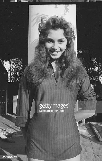 Italian actress Rosanna Schiaffino smiling during the XVIII Venice International Film Festival Venice 1957