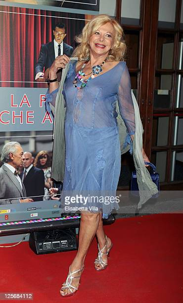 Italian actress Sandra Milo attends 'The Skin I Live In' premiere at Embassy Cinema on September 20 2011 in Rome Italy