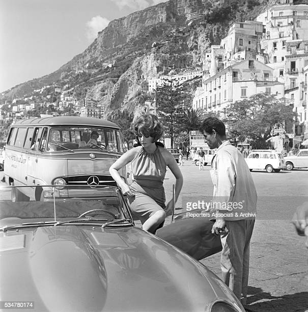 Italian actress Silva Koscina acting in Made in Italy Italy 1965