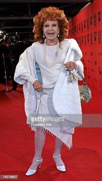 Italian actress Silvana Pampanini arrives at the 70 years of Cinecitta Studios Party at Cinecitta May 4 2007 in Rome Italy