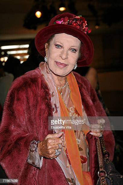 Italian actress Silvana Pampanini attends the 'Montegrappa Genio Creativo' award ceremony held at the Spazio Etoile with a special performance from...