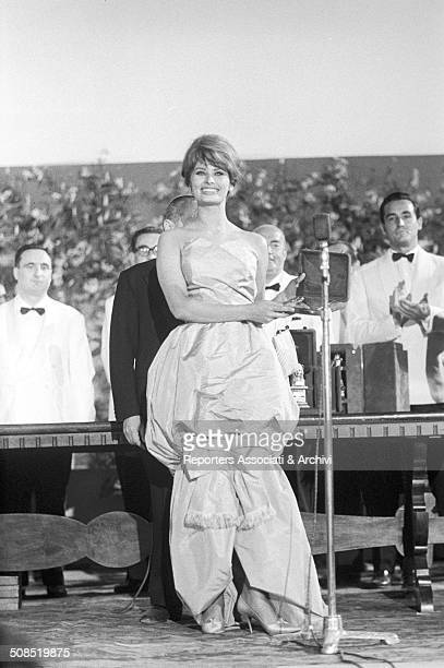 Italian actress Sophia Loren at the David di Donatello 1960