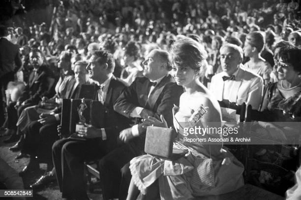 Italian actress Sophia Loren at the David di Donatello 1960