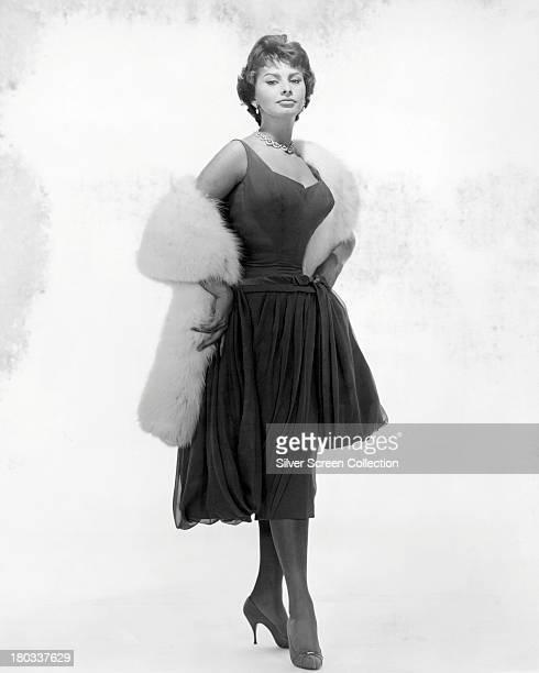 Italian actress Sophia Loren circa 1957