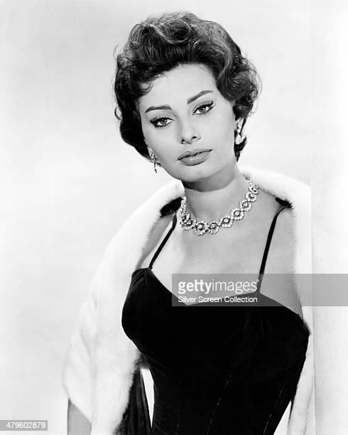 Italian actress Sophia Loren circa 1958