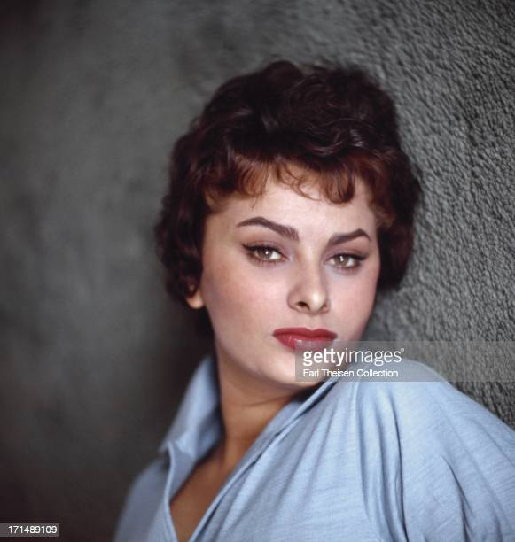 Italian actress Sophia Loren poses for a portrait in 1957 in Los Angeles California