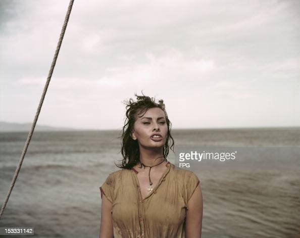 Italian actress Sophia Loren stars in the film 'Boy on a Dolphin' 1957