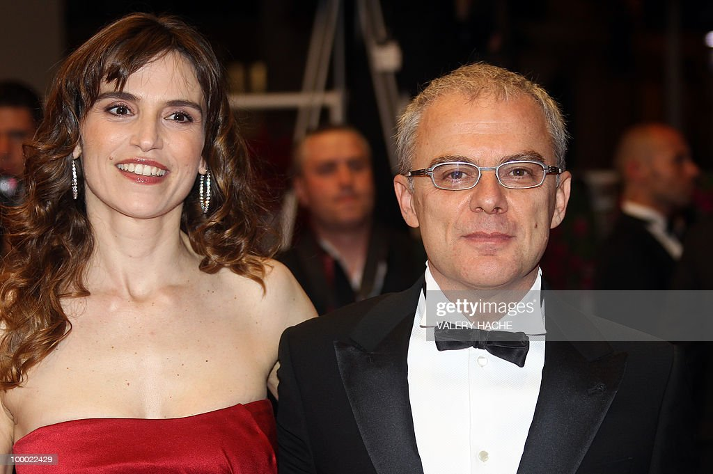 Italian actress Stefania Montorsi and Italian director Daniele Luchetti arrive for the screening of 'La Nostra Vita' (Our Life) presented in competition at the 63rd Cannes Film Festival on May 20, 2010 in Cannes.