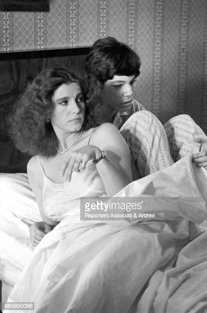 Italian actress Stefania Sandrelli and Argentinianborn Italian actor Karl Zinny lying in bed in Disobedience 1981