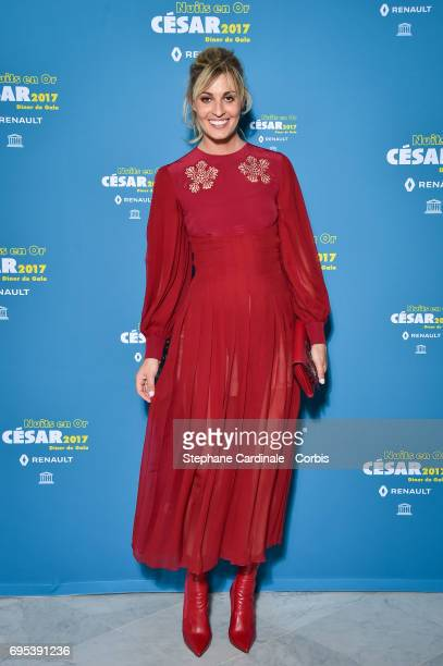 Italian actress Sveva Alviti attends 'Les Nuits en Or 2017' Dinner Gala at Unesco on June 12 2017 in Paris France