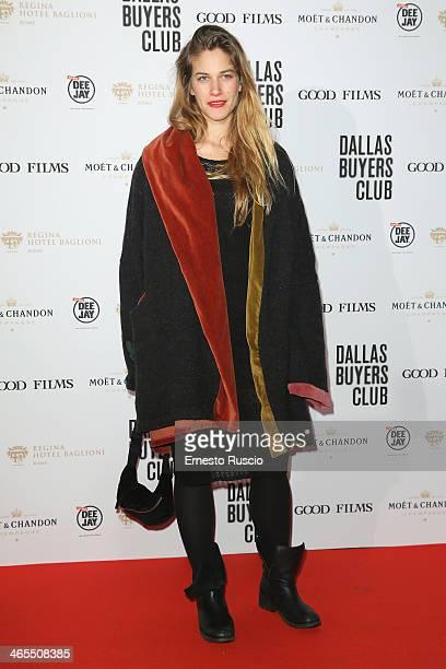 Italian actress Tea Falco attends the 'Dallas Buyers Club' premiere at Cinema Barberini on January 27 2014 in Rome Italy