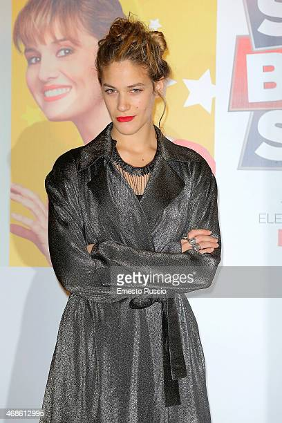 Italian actress Tea Falco attends the 'Sotto Una Buona Stella' photocall at cinema Savoy on February 11 2014 in Rome Italy
