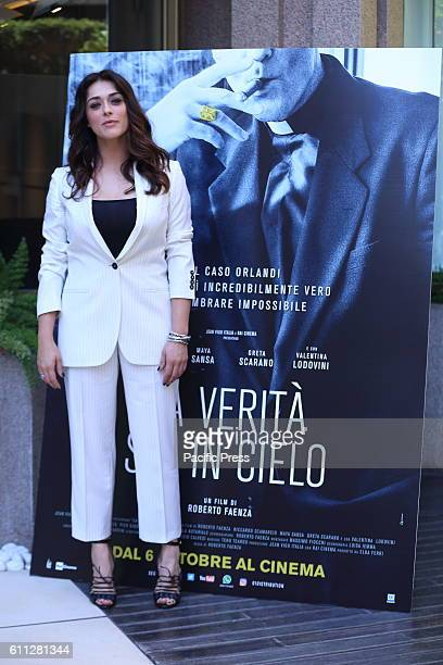 Italian actress Valentina Lodovini during photocall of 'La Verità sta in cielo' a film by Roberto Faenza based on the story of Emanuela Orlandi