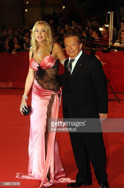 Italian actress Valeria Marini and italian producer Vittorio Cecchi Gori The Third Rome Film Festival Premiere of the film 'Chinese Coffee' in Rome...