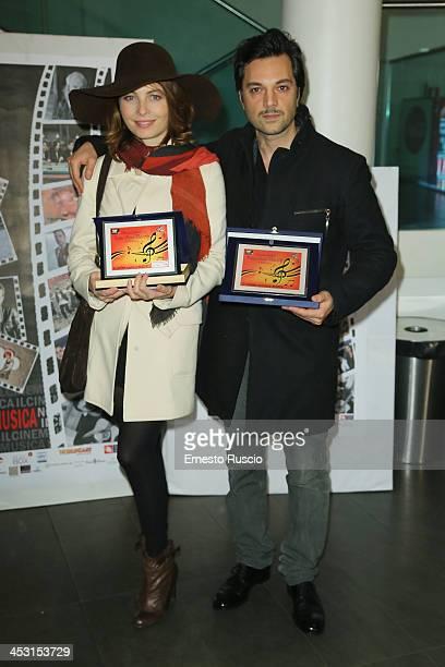 Italian actress Violante Placido and her husband Massimiliano DÕEpiro attend the Roma Videoclip Awards 2013 at Nuovo Cinema Aquila on December 2 2013...
