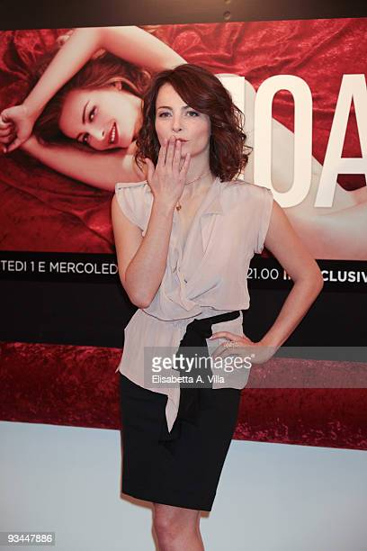 Italian actress Violante Placido attends a photocall for the TV movie 'Moana' at Cinema House on November 27 2009 in Rome Italy