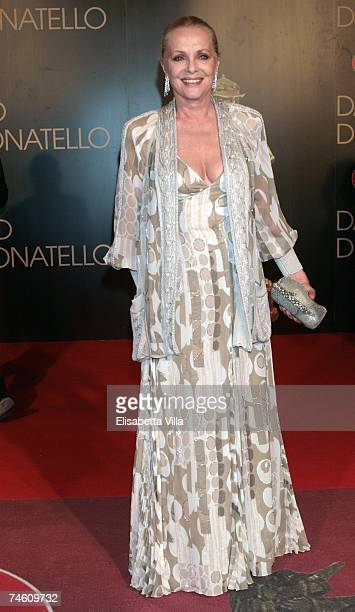 Italian actress Virna Lisi attends the David di Donatello 2007 Italian Awards at the Gran Teatro di Tor di Quinto on June 14 2007 in Rome Italy